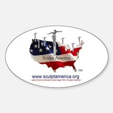 Sculpt America! Oval Decal