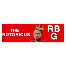 NotoriousRBG Bumper Car Sticker
