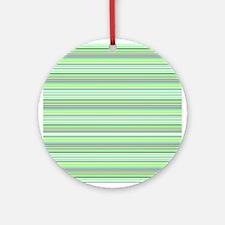 Retro Green Pinstripes Ornament (Round)