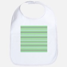 Retro Green Pinstripes Bib
