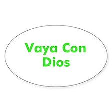 Vaya Con Dios Oval Stickers