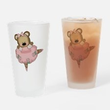 BALLERINA BEAR Drinking Glass