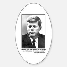 JFK Inaugural Quote Oval Decal