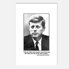 JFK Inaugural Quote Postcards (Package of 8)