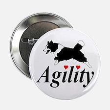 Border Collie Agility Button