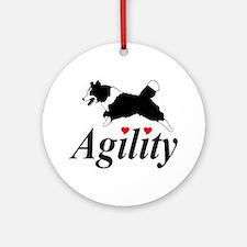Border Collie Agility Ornament (Round)