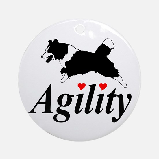 Border Collie Agility Ornament (Round)