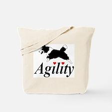Border Collie Agility Tote Bag