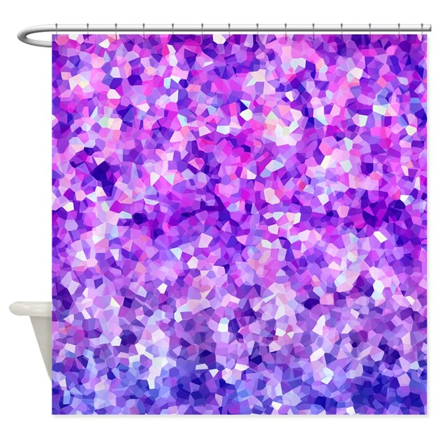 purple sparkle shower curtain by whimsicaldesigns