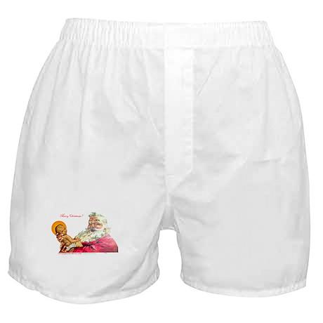 Santa aand Jesus Boxer Shorts
