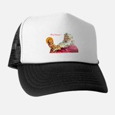 Santa aand Jesus Trucker Hat