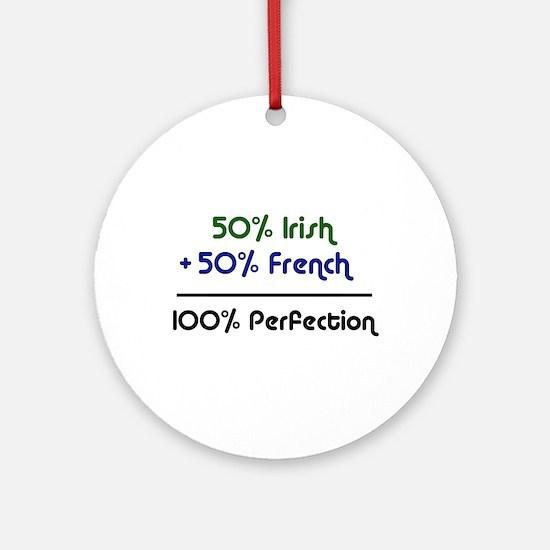Irish & French Ornament (Round)