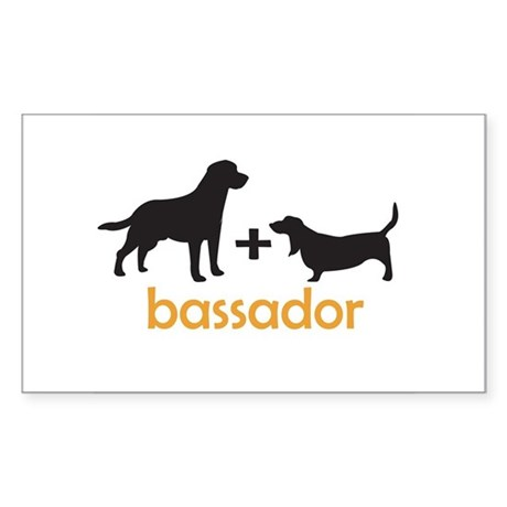 Bassador Rectangle Sticker