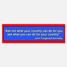 JFK Inaugural Quote Bumper Bumper Bumper Sticker
