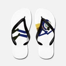 Cartoon Scuba Diver Flip Flops