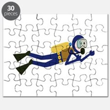 Cartoon Scuba Diver Puzzle