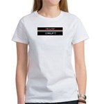 Closet Corrupts (White on Black) Women's T-Shirt