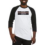 Closet Corrupts (White on Black) Baseball Jersey
