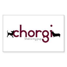 Chihuahua/Corgi Rectangle Decal