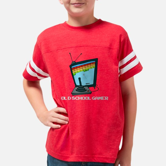 Old School Gamer dark t-shirt Youth Football Shirt