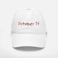 October 16 Baseball Baseball Cap