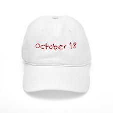 October 18 Baseball Cap