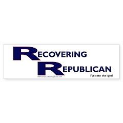 Recovering Republican Bumper Bumper Sticker