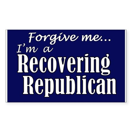 Recovering Republicans Rectangle Sticker
