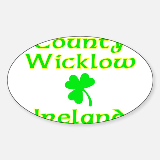 County Wicklow, Ireland Oval Decal