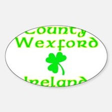 County Wexford, Ireland Oval Decal