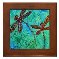 Dragonfly Dance Framed Tile