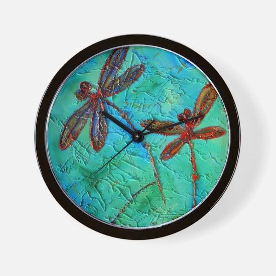 Dragonfly Dance Wall Clock