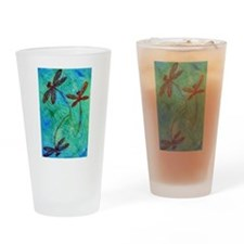 Dragonfly Dance Drinking Glass