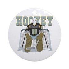 HOCKEY GOALIE Ornament (Round)