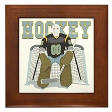 Hockey Goalie Framed Tile