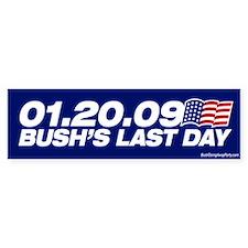 Bush's Last Day Bumper Car Sticker
