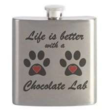 Life Is Better With A Chocolate Lab Flask