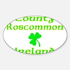 County Roscommon, Ireland Oval Decal