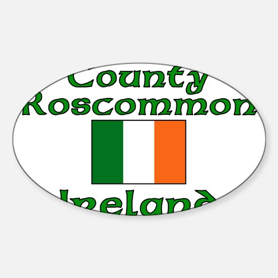 County Roscommon, Ireland Oval Decal
