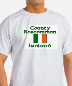 County Roscommon, Ireland Ash Grey T-Shirt