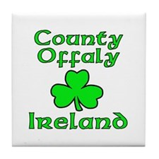 County Offaly, Ireland Tile Coaster