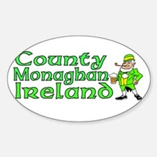 County Monaghan, Ireland Oval Decal
