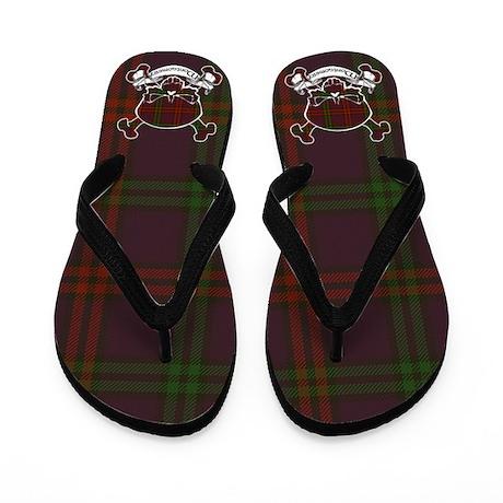 Montgomery Tartan Skull Flip Flops