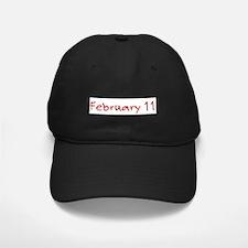 February 11 Baseball Hat