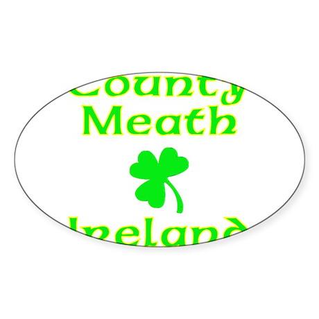County Meath, Ireland Oval Sticker
