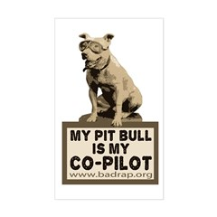 Pit Bull Pilot Rectangle Decal