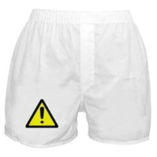 Exclamation Point Caution Sign Boxer Shorts