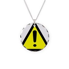 Exclamation Point Caution Sign Necklace