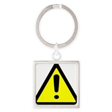 Exclamation Point Caution Sign Keychains