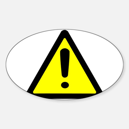 Exclamation Point Caution Sign Decal